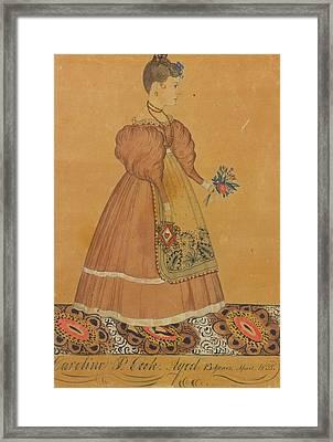 Portrait Of A Girl Framed Print