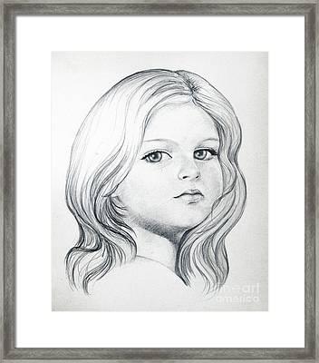 Portrait Of A Girl Framed Print by Stoyanka Ivanova
