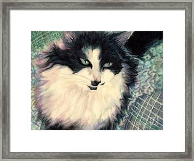 Portrait Of A Green Eyed Cat Framed Print