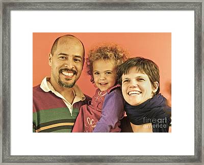 Portrait Of A Happy Family Framed Print