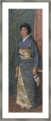 Portrait Of A Japanese Woman Framed Print