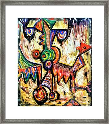 Portrait Of A Jubilant Benedict Framed Print by Mbonu Emerem