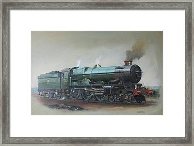 Framed Print featuring the painting Portrait Of A King. by Mike Jeffries
