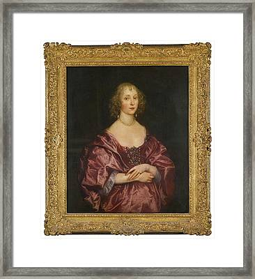 Portrait Of A Lady Framed Print by MotionAge Designs