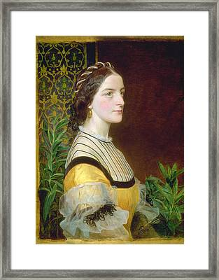 Portrait Of A Lady Framed Print by Frederick Sandys