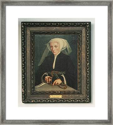Portrait Of A Lady Holding A Rosary Framed Print by MotionAge Designs