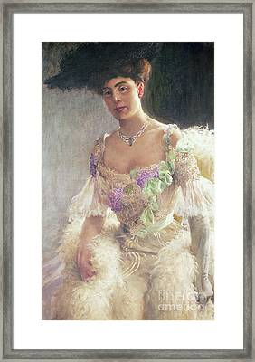 Portrait Of A Lady In Evening Dress, 1903 Framed Print