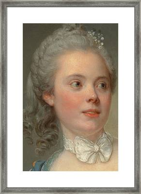 Portrait Of A Lady Framed Print by Jean Baptiste Greuze