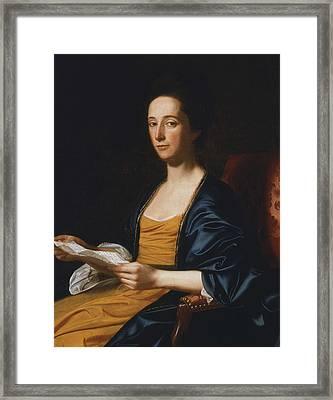 Portrait Of A Lady Framed Print by John Singleton Copley