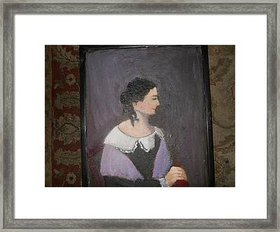 Portrait Of A Lady Framed Print by Louise Gibler