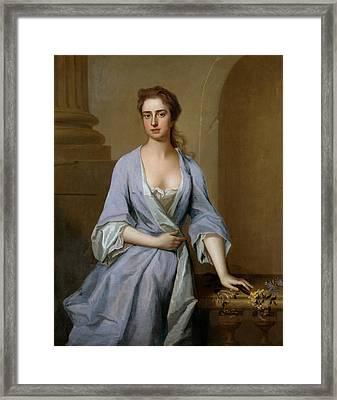 Portrait Of A Lady Framed Print by Michael Dahl
