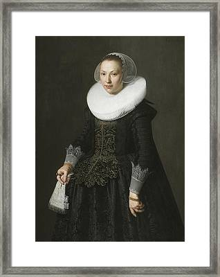Portrait Of A Lady Framed Print by Nicolaes Eliasz