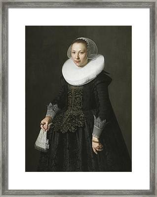 Portrait Of A Lady Framed Print by Nicolaes Eliasz