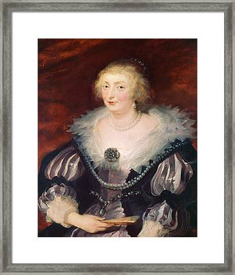 Portrait Of A Lady Framed Print by Peter Paul Rubens