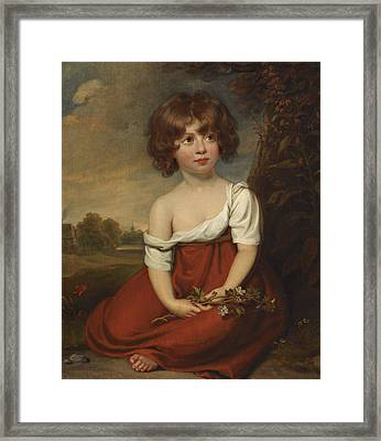 Portrait Of A Lady, Said To Be Elizabeth Brudenell-bruce Framed Print by William Beechey
