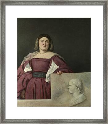 Portrait Of A Lady Framed Print by Titian