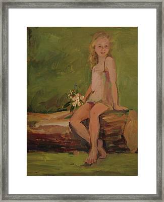 Portrait Of A Little Girl Framed Print by Tigran Ghulyan