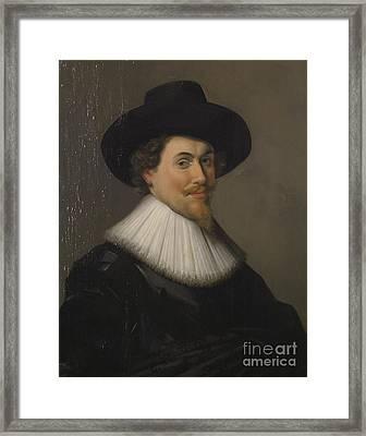 Portrait Of A Man In Black Framed Print