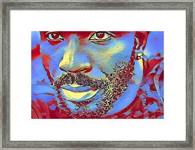 Portrait Of A Man Of Color Framed Print