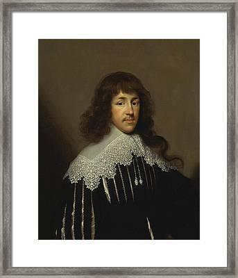 Portrait Of A Man, Probably Sir Francis Godolphin Framed Print
