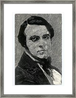 Portrait Of A Man Framed Print by Robert Bissett