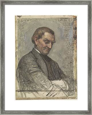 Portrait Of A Man, With Beaten Down Look, Jan, 1884 Framed Print