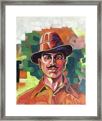 Portrait Of A Martyr Framed Print