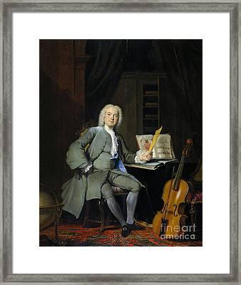 Portrait Of A Member Of The Van Der Mersch Family Framed Print