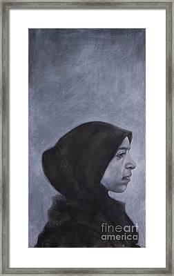 Portrait Of A Moroccan Girl Framed Print by Jonathan Wommack