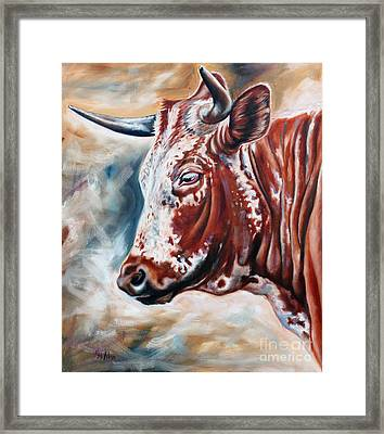 Portrait Of A Nguni Framed Print by Ilse Kleyn