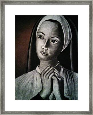 Portrait Of A Nun Framed Print