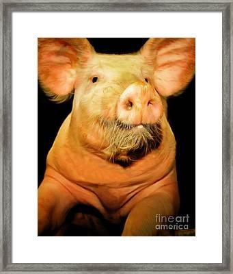 Portrait Of A Pig 20170921 Vertical Framed Print