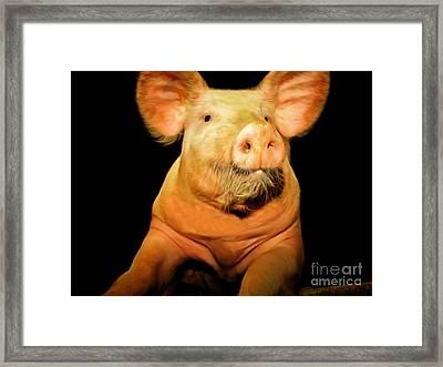 Portrait Of A Pig 20170921 Framed Print