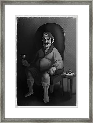 Portrait Of A Plumber Framed Print