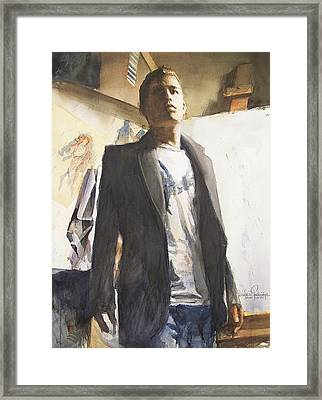 Portrait Of A Prodigy Framed Print by Douglas Trowbridge