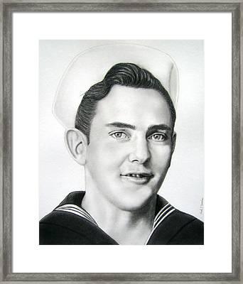 Portrait Of A Sailor Framed Print by Nicole I Hamilton
