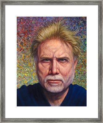 Portrait Of A Serious Artist Framed Print by James W Johnson