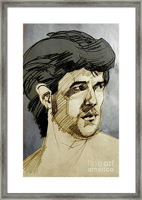 Portrait Of A Swarthy Young Man Framed Print