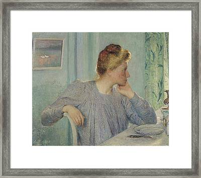 Portrait Of A Woman, 1900 Framed Print