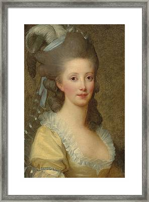 Portrait Of A Woman Framed Print by Elisabeth Louise Vigee-Lebrun