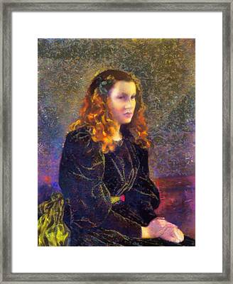 Portrait Of A Woman Framed Print by Mario Carini