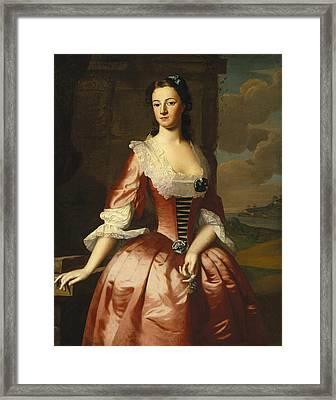 Portrait Of A Woman Framed Print by Robert Feke
