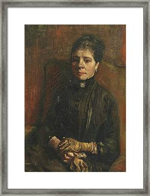 Portrait Of A Woman Seated, 1886 1 Framed Print by Vincent Van Gogh