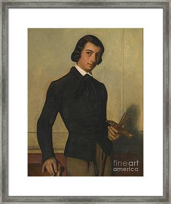 Portrait Of A Young Artist Framed Print by Celestial Images