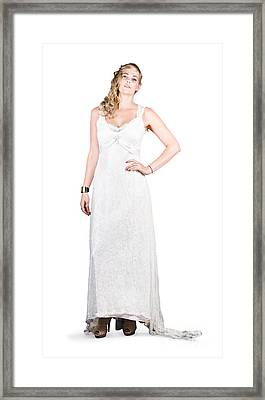 Portrait Of A Young Bride Framed Print by Jorgo Photography - Wall Art Gallery