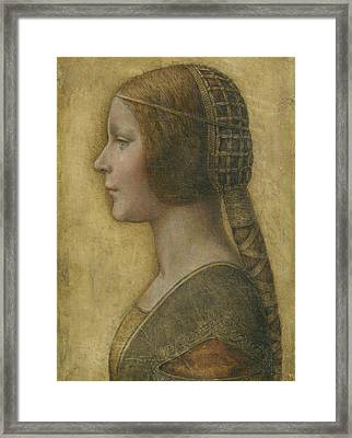 Portrait Of A Young Fiancee Framed Print