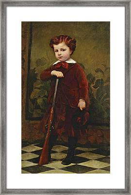 Portrait Of A Young Hunter Framed Print