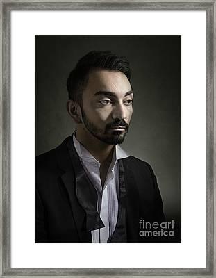 Portrait Of A Young Man Framed Print by Amanda Elwell