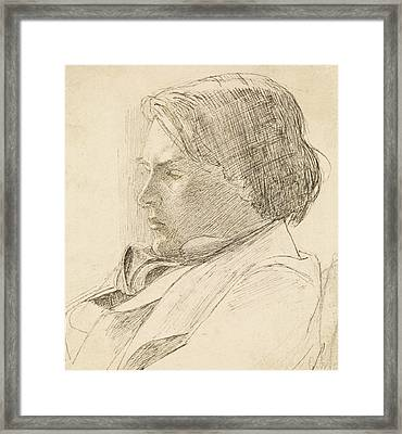 Portrait Of A Young Man Framed Print by Dante Gabriel Rossetti
