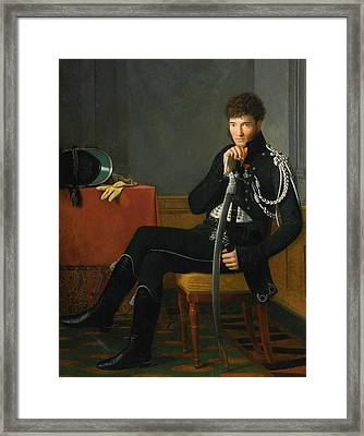 Portrait Of A Young Man In Uniform Framed Print